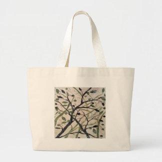 Abstracet Olive Tree Large Tote Bag