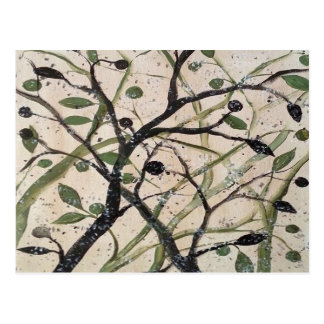 Abstracet Olive Tree Postcard