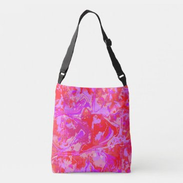 Abstrack Exclusive Red Pink Pattern Crossbody Bag