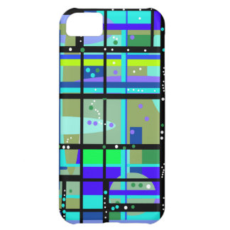 Abstract1950s Blues Design iPhone 5C Cover