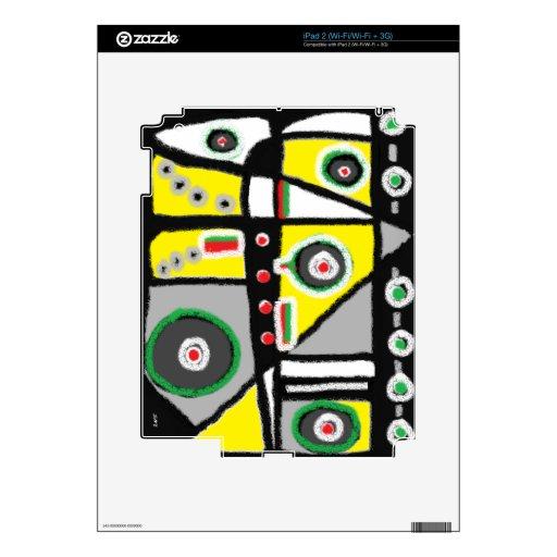 Abstract 001 iPad 2 decals