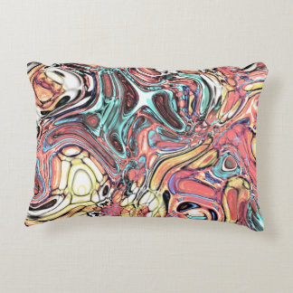Abstract 02–Swirls and Puddles, Modified Accent Pillow