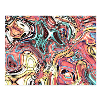 Abstract 02–Swirls and Puddles, Modified Postcard