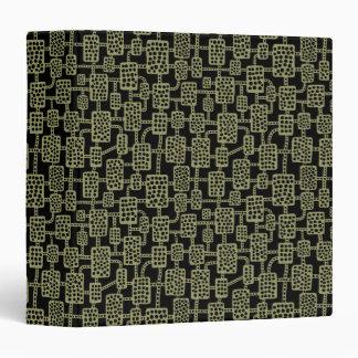 Abstract 041113 (1.5in) - Khaki on Black Binder