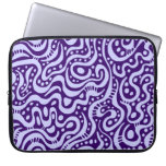 Abstract 041211 - Powder Blue on Deep Purple Laptop Computer Sleeves