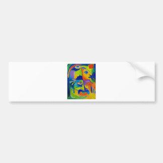Abstract 10-18 bumper sticker