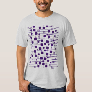 Abstract 111211 - Deep Purple T Shirt