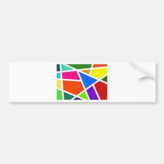 abstract-123-color pegatina para auto
