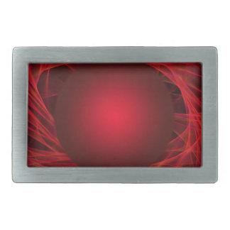abstract-12red-ball rectangular belt buckle