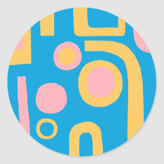 Abstract 170914v2 classic round sticker