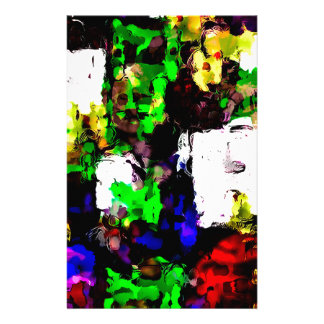 Abstract 1818 stationery