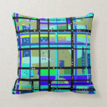 Abstract 1950s Design Pillow