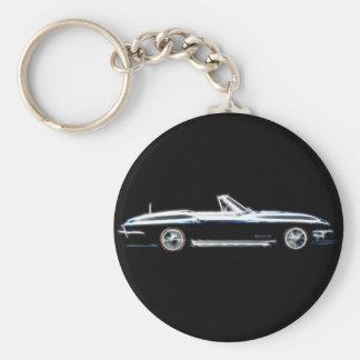 Abstract 1965 Chevrolet Corvette Stingray  Keych Keychain