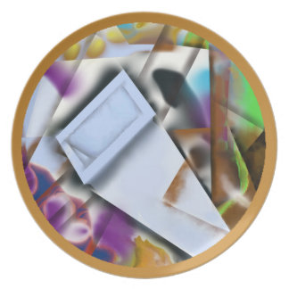 Abstract 19 - Getting into Shape Melamine Plate