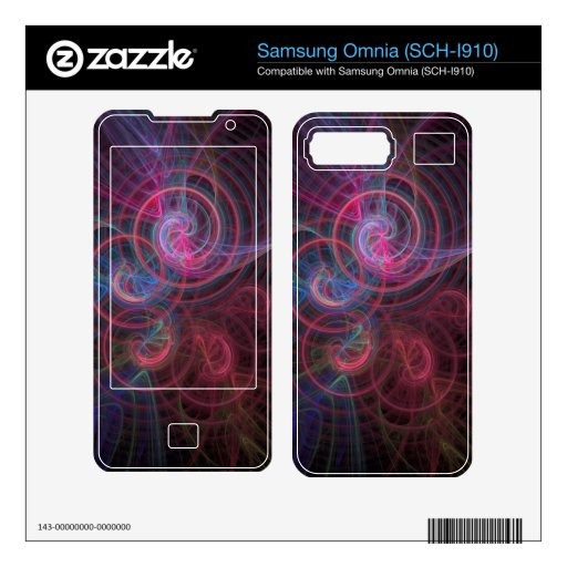 Abstract 19 skins for samsung omnia
