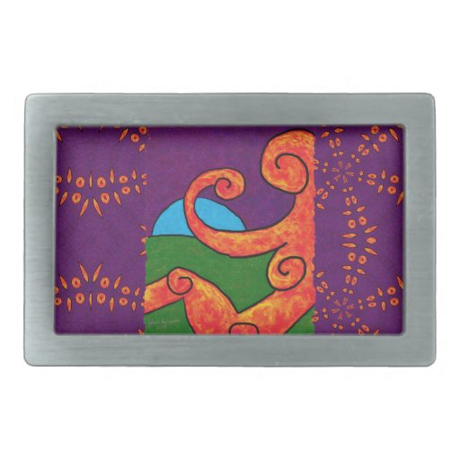 Abstract 1-6-10 Belt Buckle