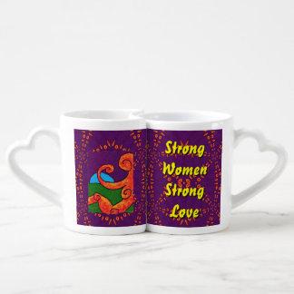 Abstract 1-6-10 coffee mug set