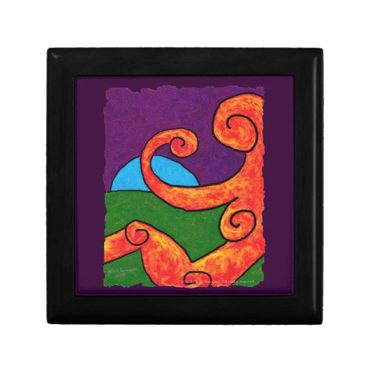 Abstract 1-6-10 Giftbox Keepsake Box