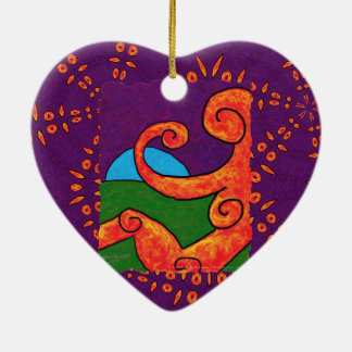 Abstract 1-6-10  Heart Ornament