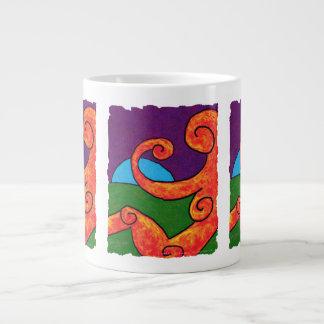 Abstract 1-6-10 Jumbo Mug 20 Oz Large Ceramic Coffee Mug