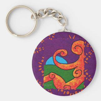 Abstract 1-6-10 Round Keychain