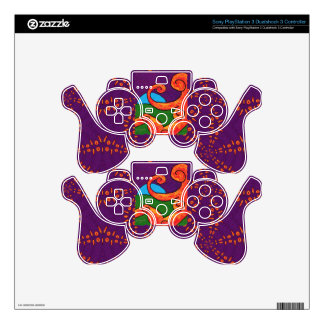 Abstract 1-6-10 Sony PlayStation 3 Controller Skin PS3 Controller Skins