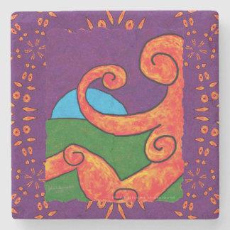 Abstract 1-6-10 stone coaster