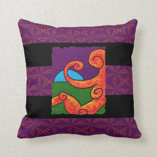 Abstract 1-6-10 Throw Pillow