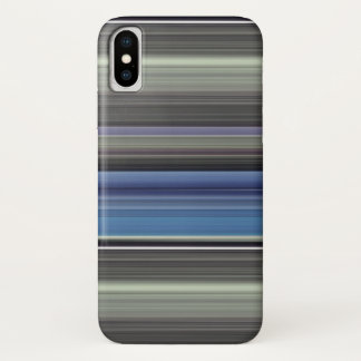 Abstract #1: Blue and grey iPhone X Case