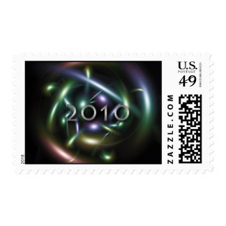 Abstract 2010 design postage