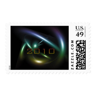 Abstract 2010 design postage stamps