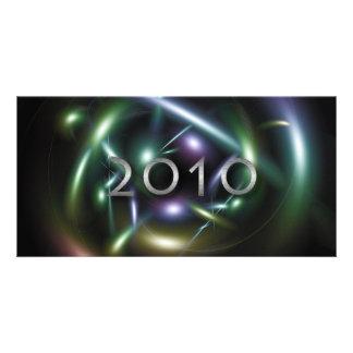 Abstract 2010 photo card