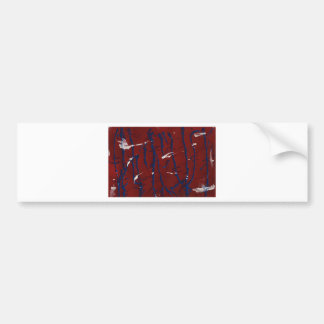 Abstract 2 Red White and Blue Bumper Stickers