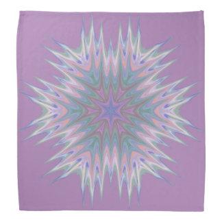 Abstract 336 a Pastel Kaleidoscope Bandana