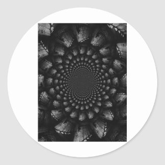 abstract 3 classic round sticker
