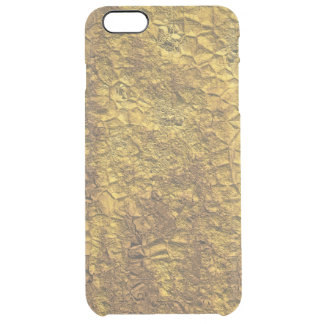 Abstract 3-dimensional yellow alien-skin texture clear iPhone 6 plus case