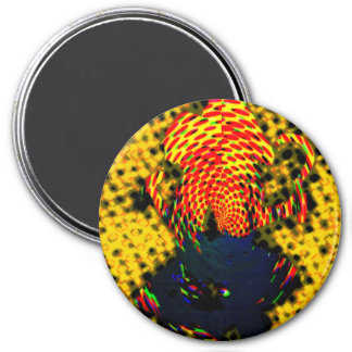 Abstract 3 Inch Round Magnet