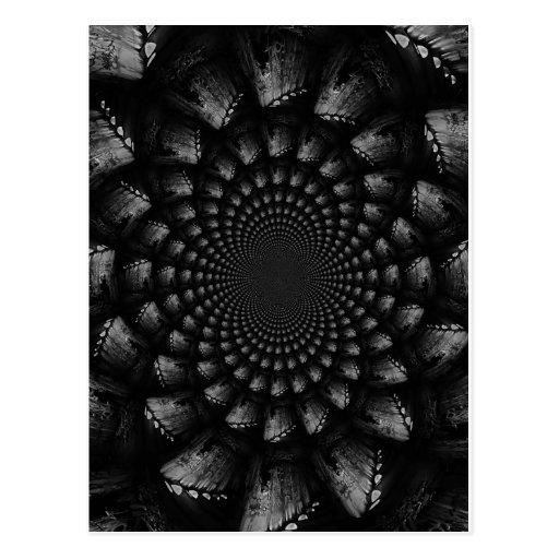 abstract 3 postcard
