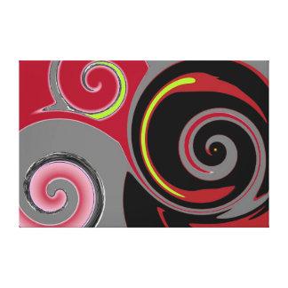 Abstract 3 Swirls Canvas Print