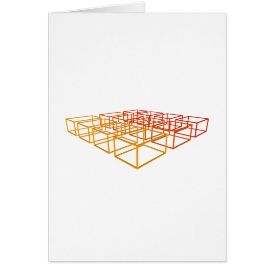 Abstract 3D Boxes: Card