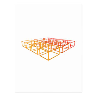 Abstract 3D Boxes: Postcard