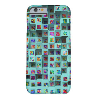 Abstract 3D Colorful Geometric Small Cubes Barely There iPhone 6 Case