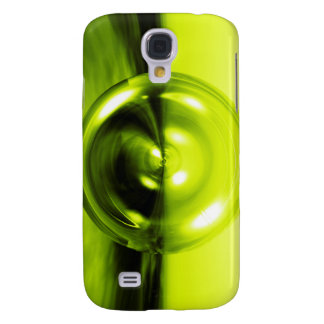 Abstract 3D Disc BarelyThere Case Green - Galaxy S