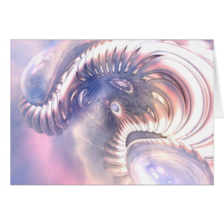 Abstract 3D Model Note Card