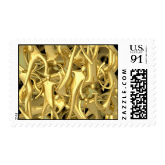 Abstract 3d people stamp