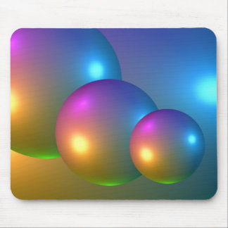 Abstract 3d Spheres Mouse Pad