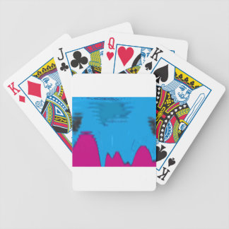 abstract 4 bicycle playing cards