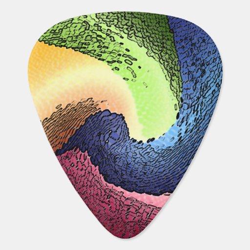 Abstract 4 - Guitar Pic Guitar Pick