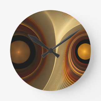 abstract #4 round clock