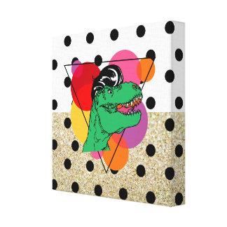 Abstract 50's T-Rex Canvas Prints